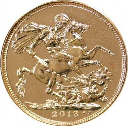 2013 Gold Half Sovereign Brilliant Uncirculated condition